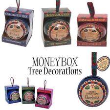 Vendita! H & H Natale Money Box NINNOLI Nomi Personalizzati per albero di Natale Decor
