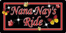 Butterflies Reds Decal Bumper Sticker Personalize Gifts Ladies Girls Grandma