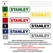 adesivi vinile prespaziato STANLEY sticker sponsor motocycle helmet 2 pz. cm. 20