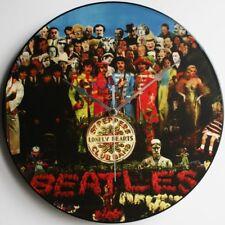 "Sgt Peppers - The Beatles 12"" LP Vinyl Record Clocks, Lennon, McCartney, canvas"