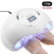 72W UV Lamp LED Nails Lamp Gel Polish Nail Dryer Manicure Acrylic Curing Light