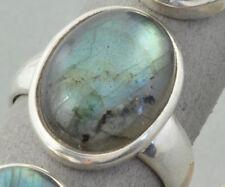 Ring Silberring Labradorit Cadachon 22 mm verstellbar Schmuck Damen 925 Silber