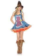 Sexy Halloween Adult Women's Sunflower Scarecrow Oz Costume w Hat
