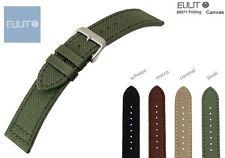 - EULIT CANVAS NYLON-Uhrenarmband mit Unterleder 20 od 22 mm Vier Farben Auswahl