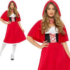 Red Riding Hood Costume Longer Length Adult Womens Ladies Fancy Dress XS-L