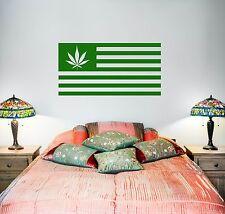 Wall Vinyl Marihuana Marihuana Weed Flag Mural Vinyl Decal (z3388)