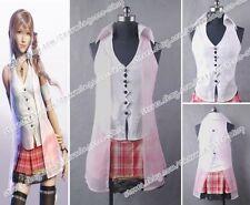 Final Fantasy XIII Cosplay Serah Farron Costume Girls Dress Uniform Party Wear