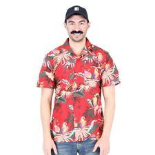 Adult TV Show Magnum PI Jungle Bird Tom Selleck Hawaiian Aloha Costume Shirt Hat