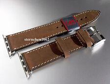 Eulux * Smart Wear Single * Uhrenarmband * Lederband für Uhren *Handmade 22 24mm