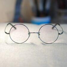 Steve Jobs Titanium Eyeglasses Frame retro Round mens Gray glasses RX eyewear