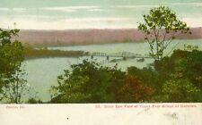 Peoria,IL. Birds eye view of Upper Free Bridge at the Narrows