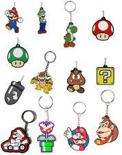 Super Mario Bros. (Mario Brothers) Gummi-Schlüsselanhänger – Mario,Luigi, etc.