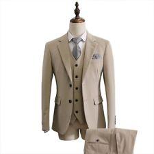 Men Groom Wedding Suit Two buttons Slim fit Blazer Trouser Vest Business Formal