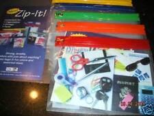 Heavy Transparent bags Brass Zip-it colorful zip tops 10 x 7