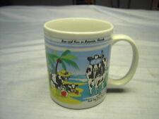 2000 Collectible Cow MUG ROAD TRIP COWS TRAVELIN' SOUTH 10 oz Coffee Cup