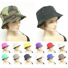 Unisex New Bucket Hat Cap Fishing Boonie Brim Hiking Safari Camo Golf Sun Visor