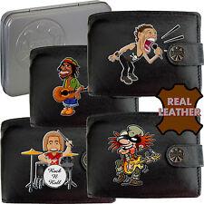Musicial Rock N Roll Klassek Mens Leather Wallet gift Humor Funny Joke metal Box