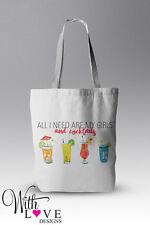 Las chicas y de cócteles bolso shopper Shopping Bag Holiday Beach Bolsa Personalizado