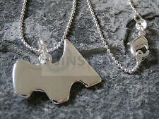 Silver Monopoly Dog Necklace Pendant Xmas Birthday Gift Box Idea WN008
