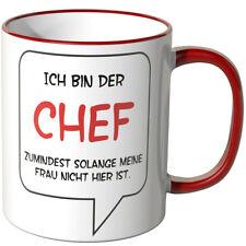 """WANDKINGS Tasse, Spruch """"ICH BIN DER CHEF"""" versch. Farben Geschenk Geburtstag"""