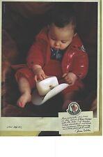 PUBLICITE ADVERTISING 2010  MONCLEAR vetements ski bébé