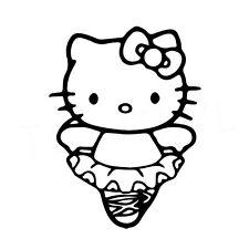 """5"""" Hello Kitty Bailarina Vinilo Autoadhesivo Con Ventana De Coche Portátil Ballet Danza Lindo"""