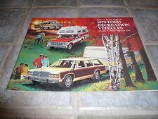 1979 Ford Recreation Vehicles Sales Brochure - Vintage