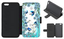Papillon Portefeuille à Rabat Coque Téléphone Iphone Galaxy 4 5 6 7 8 Plus X Compatible (D)