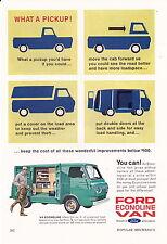1963 FORD ECONOLINE VAN  ~  VERY RARE SMALLER SIZE AD