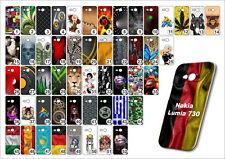 Handy Hülle Nokia Lumia 730 TPU Elastisch Schutzhülle Handyhülle Case Motive
