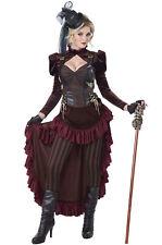 Victorian Steampunk Brass Age Wild West Dress Women Adult Costume
