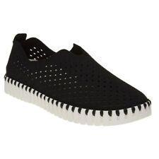 New Womens Ilse Jacobsen Black Tulip Suede Shoes Flats Slip On