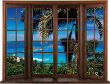 Sticker fenêtre trompe l'oeil Belle vue réf 009