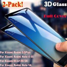2x 3D Full Cover Tempered Glass For Xiaomi Redmi 5/5Plus Note 4/4X/5A Mi A1/5X
