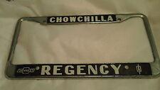 Chowchilla Regency Chevrolet Oldsmobile CA License Plate FrameTag Metal Holder