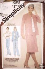 Vintage Simplicity Pattern Skirt Pants Top Jacket 16