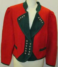 Damen Trachten Jacke Janker rot mit grün Gr. 38 von Wesenjak