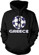 Greece Soccer Ball Hellenic Football Greek Pride Ethniki Ellados Hoodie Pullover