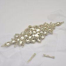 Diamantes De Imitación Cintura Cinturón Cinturón De Banda De Novia Boda Vestido Diamante 6 Colores