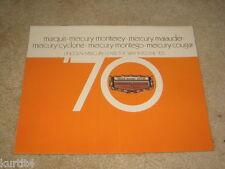 1970 Mercury Full Line Cyclone Cougar Montego Marquis Marauder sales brochure