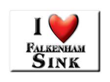 SOUVENIR UK - ENGLAND MAGNET UNITED KINGDOM I LOVE FALKENHAM SINK (SUFFOLK)