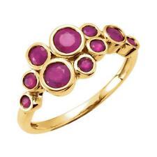 Madagascar Ruby Bezel Set Ring 14K Yellow Gold