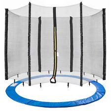 Arebos Coussin de protection pour trampoline + filet pour 6 tiges
