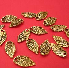 Pendant, Charm, Leaf, Antique Gold (16x8)mm-20pcs.