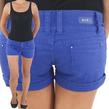 Damen Hot Pants Hotpants Jeans Shorts Kurze Hose Sommerhose Capri Hüft Stretch