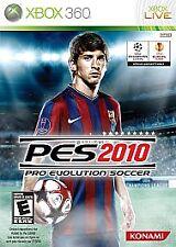 Pro Evolution Soccer 2010 (Microsoft Xbox 360, 2009) NEW