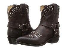 New in Box Womens Frye Billy Biker Short Boots Dark Brown 76175 MSRP $ 398