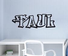 Wandaufkleber: Graffiti Name Style Hip Hop Schrift Deko Kinderzimmer WandTattoo