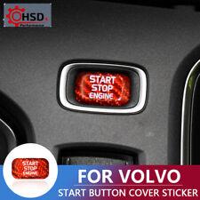 Carbon Fiber Car Engine Start Button Sticker For Volvo V40 V60 S60 S60L XC60 S80