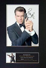 PIERCE BROSNAN James Bond 007 Signed Mounted Autograph Photo Prints A4 275